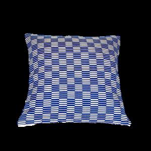 Coussin Carré rayé - Bleu