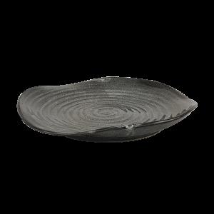 Grand plat gris tourbillon