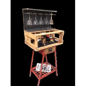 Bar range verres et bouteilles