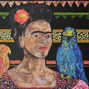 Frida aux perroquets