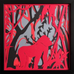 Jungle rouge et grise -...