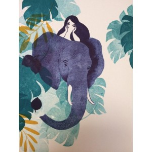 Linogravure - Éléphant