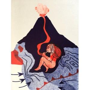 Linogravure - Irazù sorcière