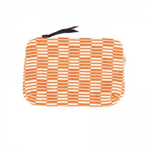 Pochette Carré rayé - Orange