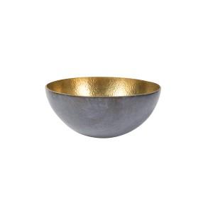 Bol rond bronze martelé - Gris