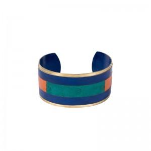 Bracelet tricolore cuir gainé