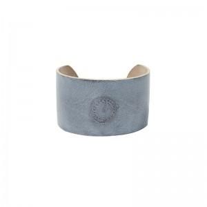 Bracelet manchette cuir gainé