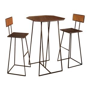 Table haute et ses deux...