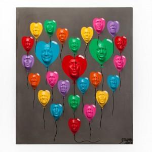Oeuvre originale - Ballon...