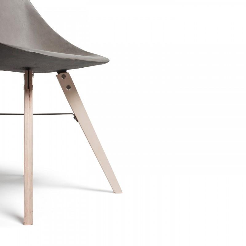 Hauteville – Chaise pieds bois on
